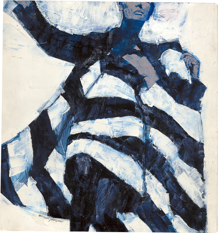 Michael Johnson, White and Black Dress, c. 1965