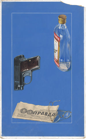 Ian Robertson, Vodka, Gun, Newspaper and Glasses, c.1960s