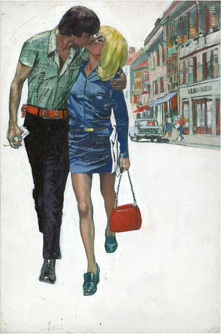 Gianluigi Coppola, Kissing couple, Walking
