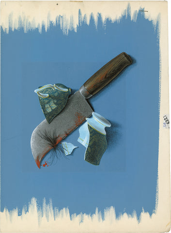 Knife on Blue, Ian Roberston