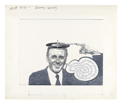 Sir Jimmy Young, portrait for NOVA Magazine