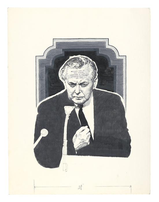 Harold Wilson, portrait for NOVA Magazine