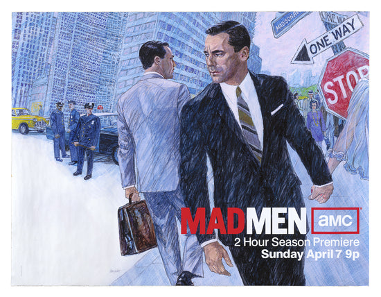 Mad Men, large poster for Series 6 of the TV series, created 2013, signed by artist
