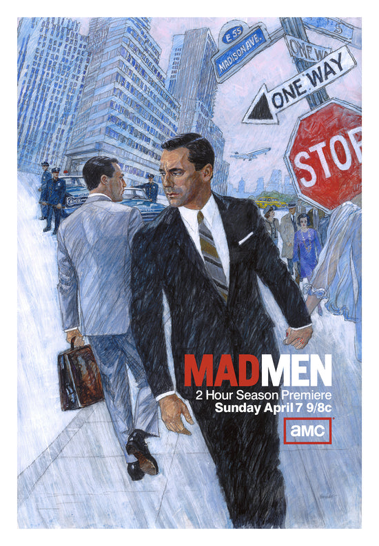 Mad Men, framed poster for Series 6 of the TV series, created 2013, signed by artist