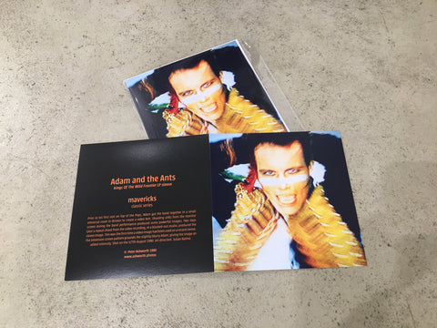 Peter Ashworth : mavericks : a set of 6 Adam Ant cards