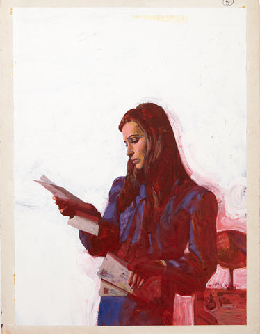 Woman Reading Letters