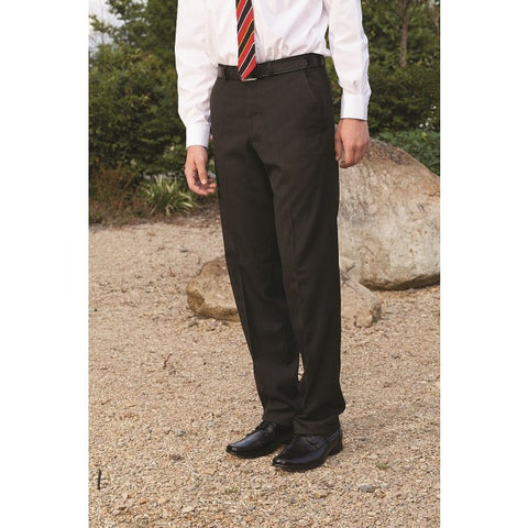 Plymouth Pleated Charcoal Trouser