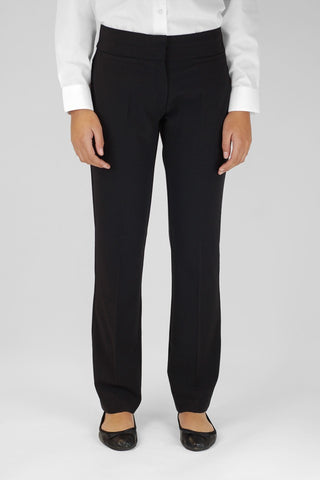 Girls Slim Leg Trouser Black