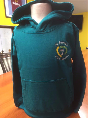 Little Leaners Hoody Aqua Green