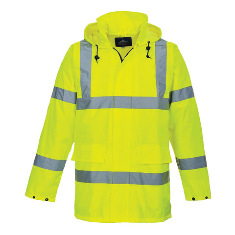 Keedwell Scotland Hi Viz Lightweight Anorak - Yellow/Orange