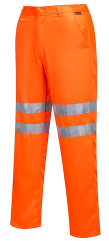 RTK Group Hi Vis Poly-Cotton Trousers - Orange