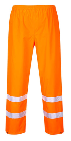 Portwest Hi Viz Waterproof Over Trousers - Orange/Yellow