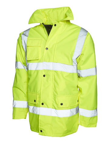 Keedwell Scotland Hi Viz Road Safety Anorak - Yellow/Orange