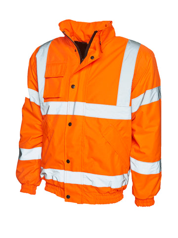 Keedwell Scotland Hi Viz Bomber Jacket - Orange
