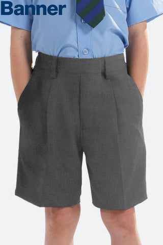 Boys Grey School Shorts
