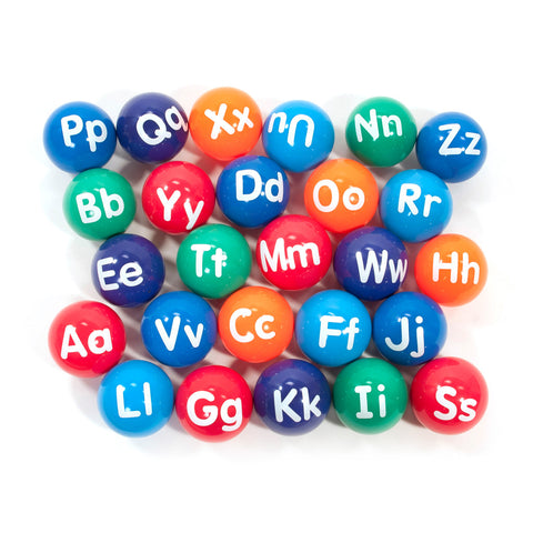 First-play Alphabet Vinyl Playballs