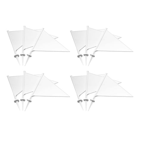 First-play White Plastic Flags
