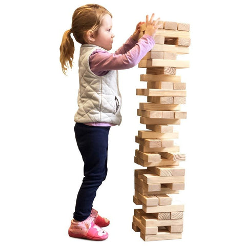 First-play Urban Giant Tumbling Tower Stacking Game
