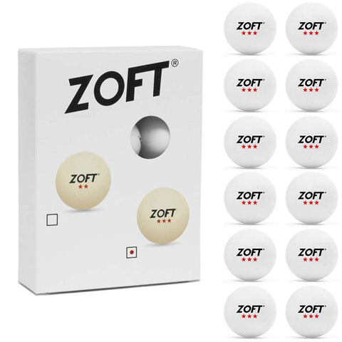 Zoft Table Tennis Ball 3 Star 12 Pack