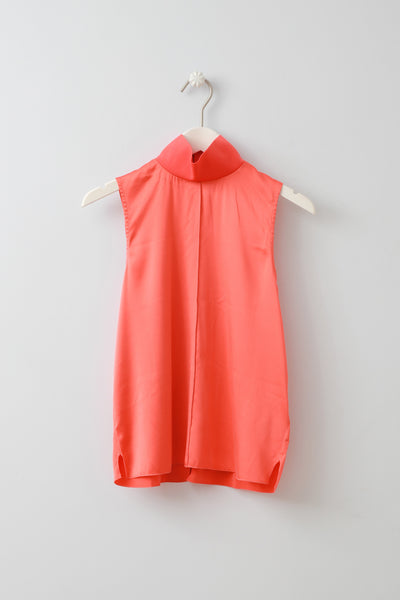 Heather Coral Silk Top