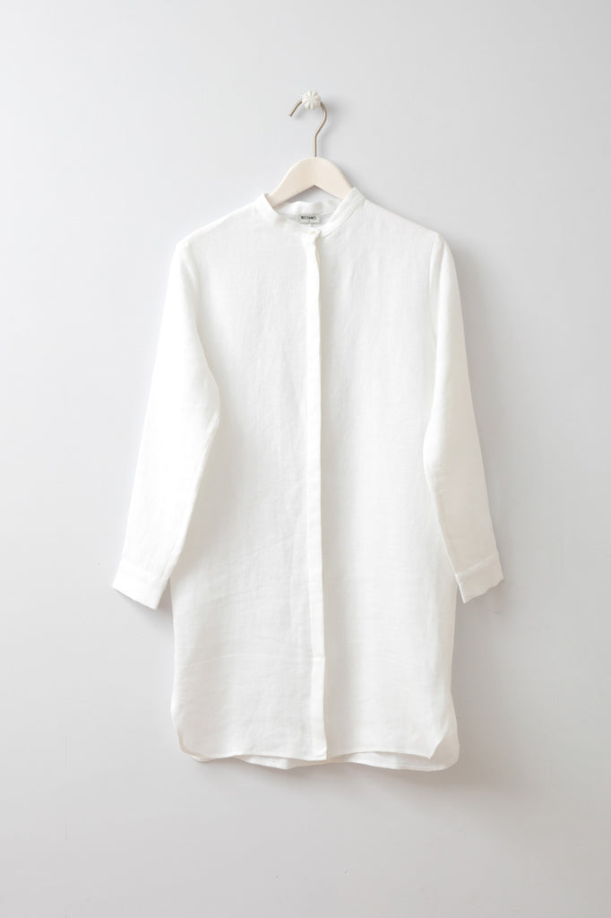 Crys White Shirt/Dress by Mes Dames