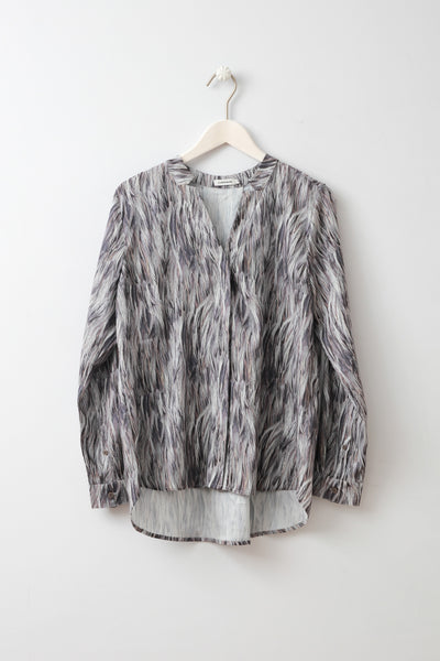 Eve Feather Print Blouse