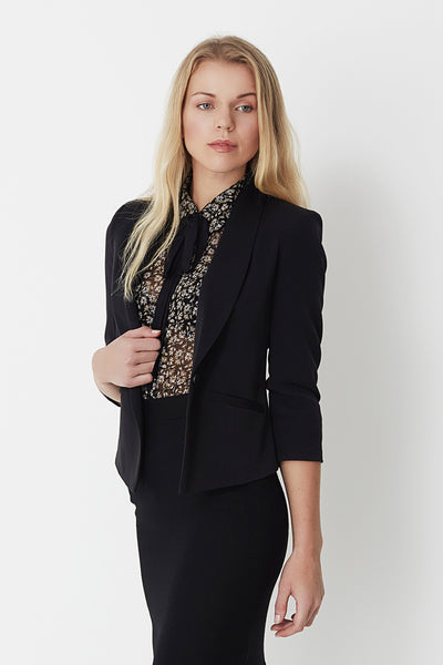 Evaline Black Blazer by Minimum
