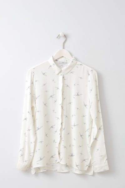 Cillane Bird Print Shirt