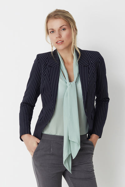 Nathja Pin Stripe Blazer by Minimum