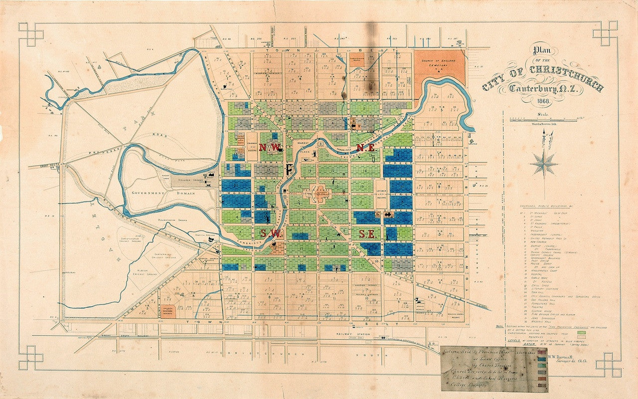 Reproduction of a City of Christchurch plan