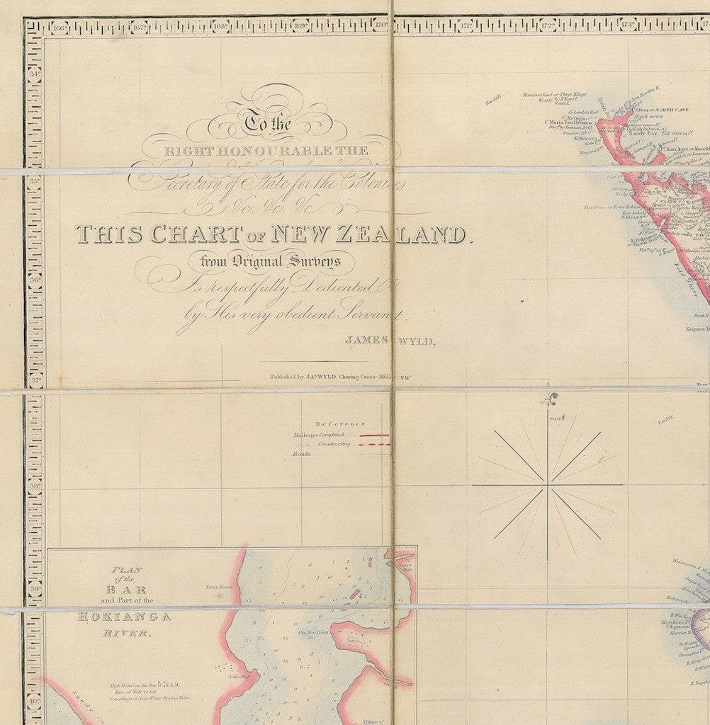 Reproduction of a c1879 map of New Zealand by James Wyld