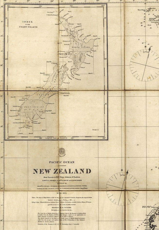 Reproduction of 1863 map of New Zealand