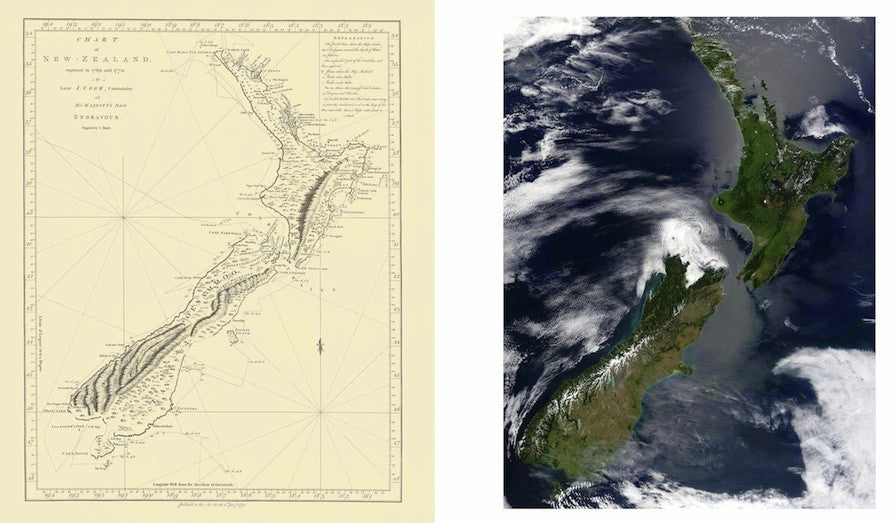 Cook and NASA: Twin views of New Zealand