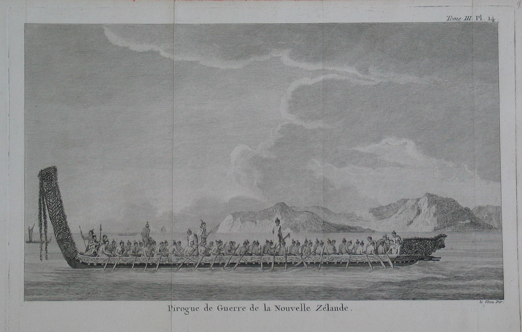 Pirogue de Guerre de la Nouvelle Zélande (War canoe of New Zealand)