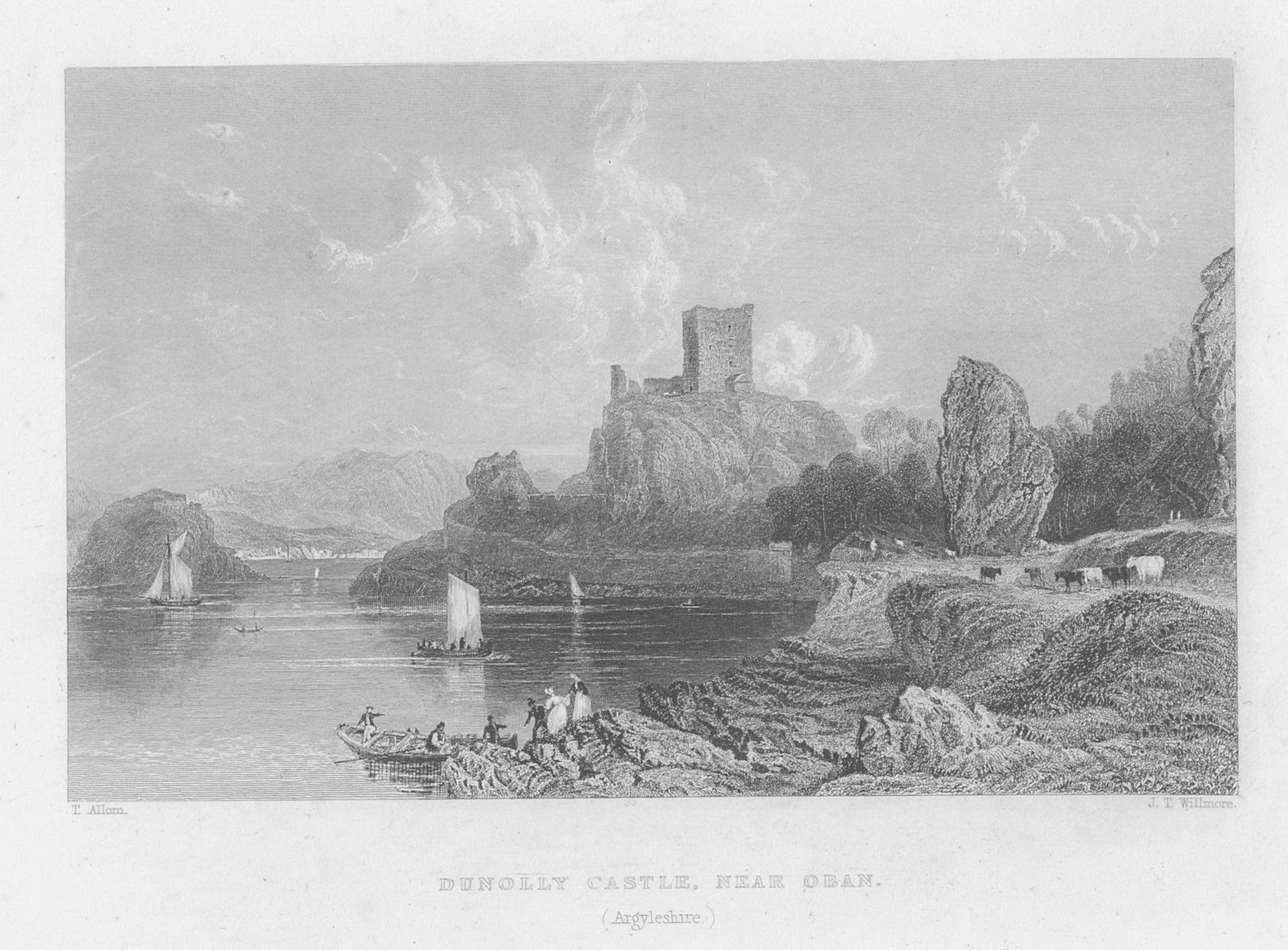 Dunolly Castle, near Oban (Argyllshire)
