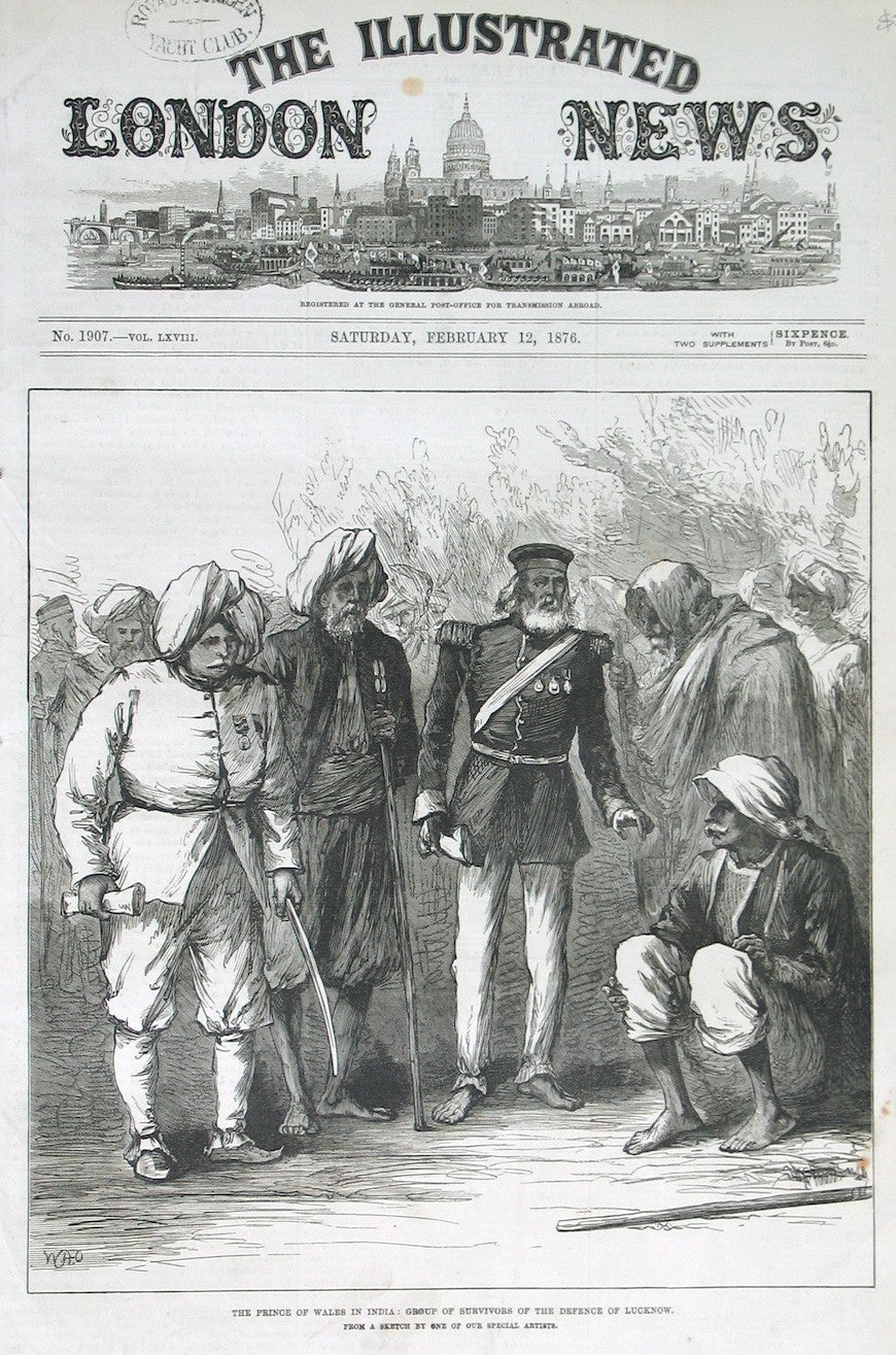 The Prince of Wales in India : Group of survivors of the defence of Lucknow.