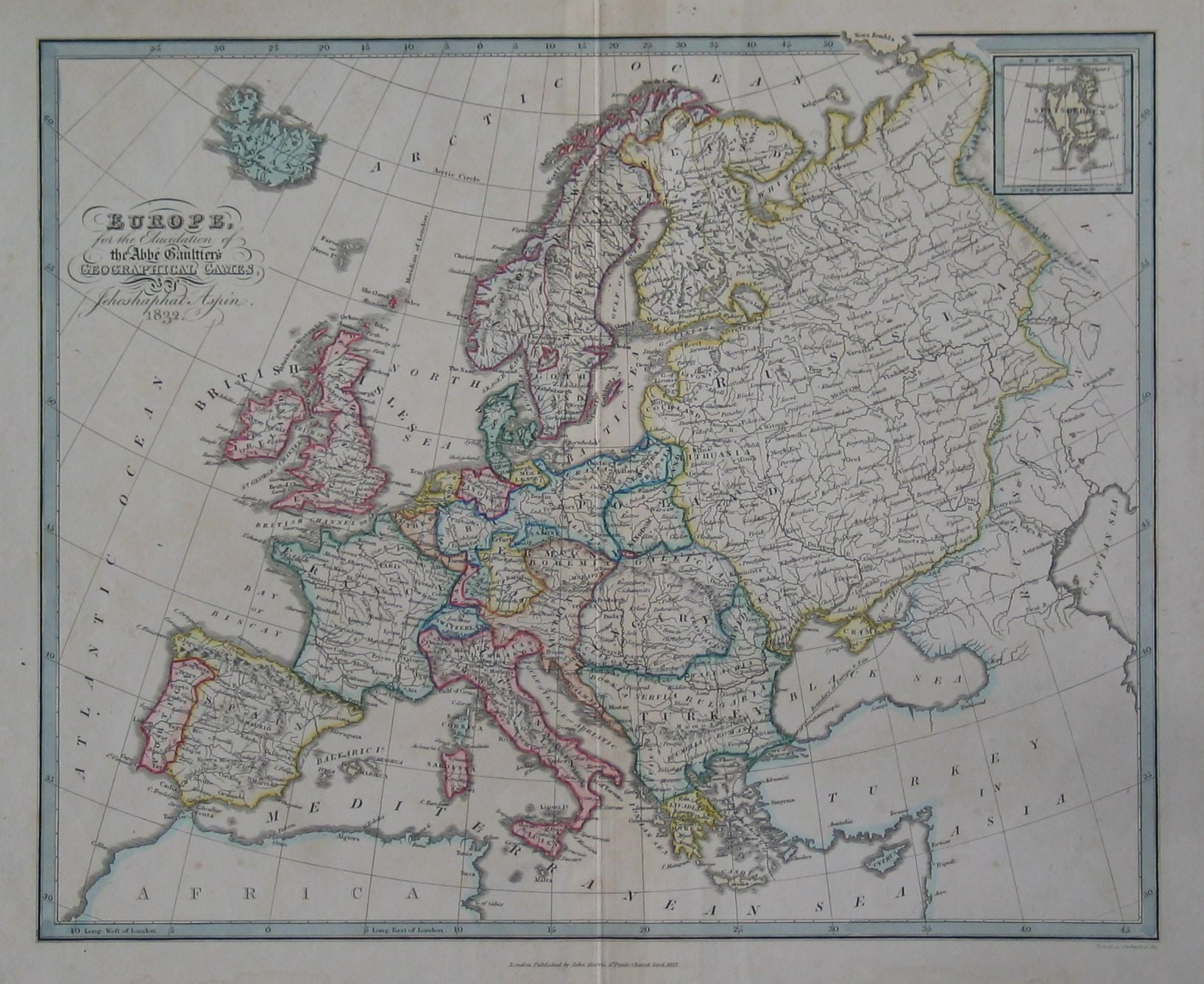 Europe, for the Elucidation of the Abbé Gaultier's Geographical Games