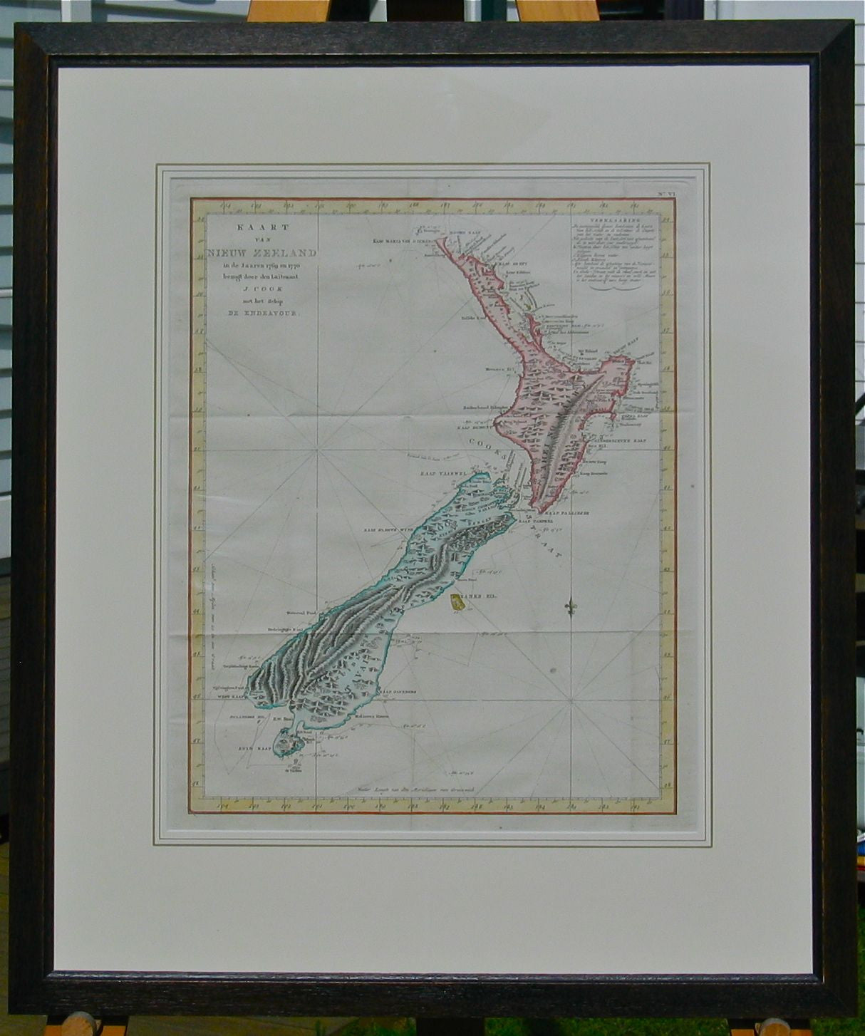 Cook's chart of New Zealand
