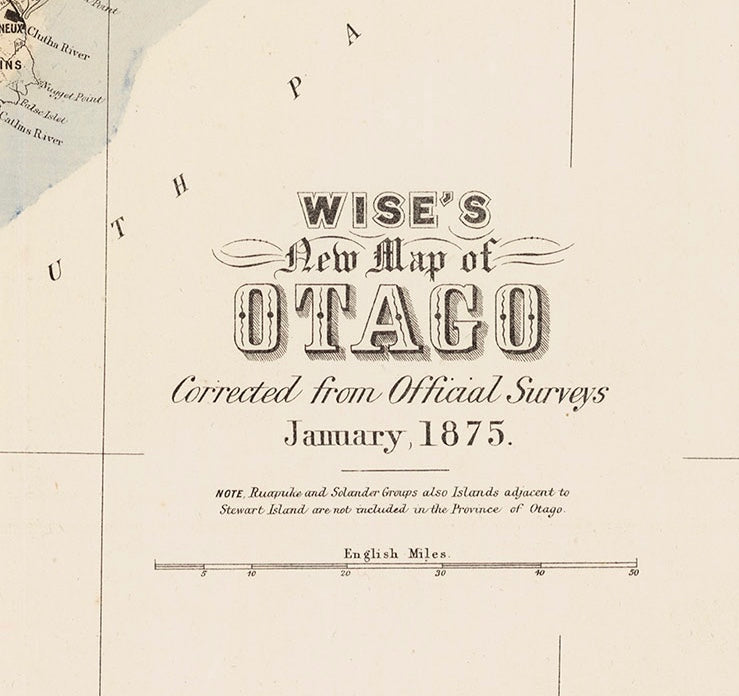 Otago Goldfields [Reproduction]