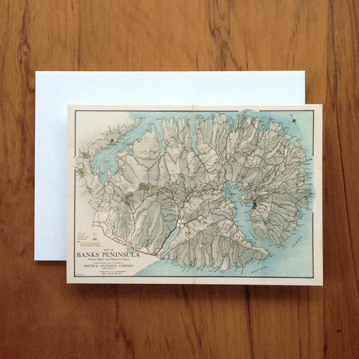 Banks Peninsula Greeting Card