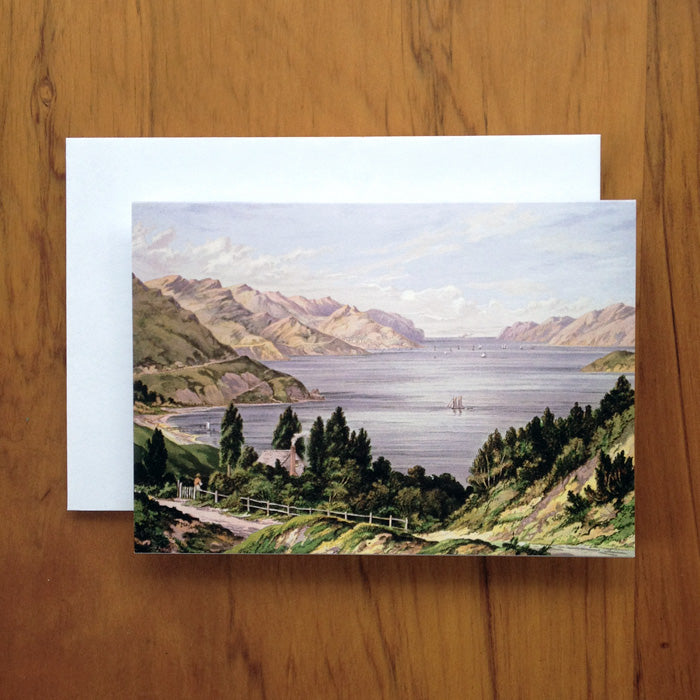 Lyttelton Harbour Barraud Greeting Card