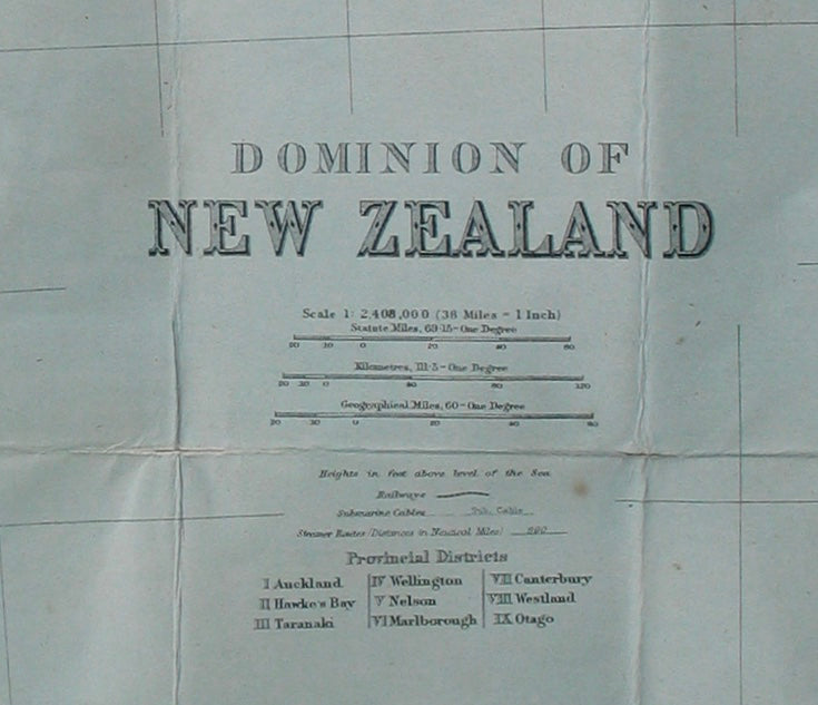 Dominion of New Zealand [folding map]