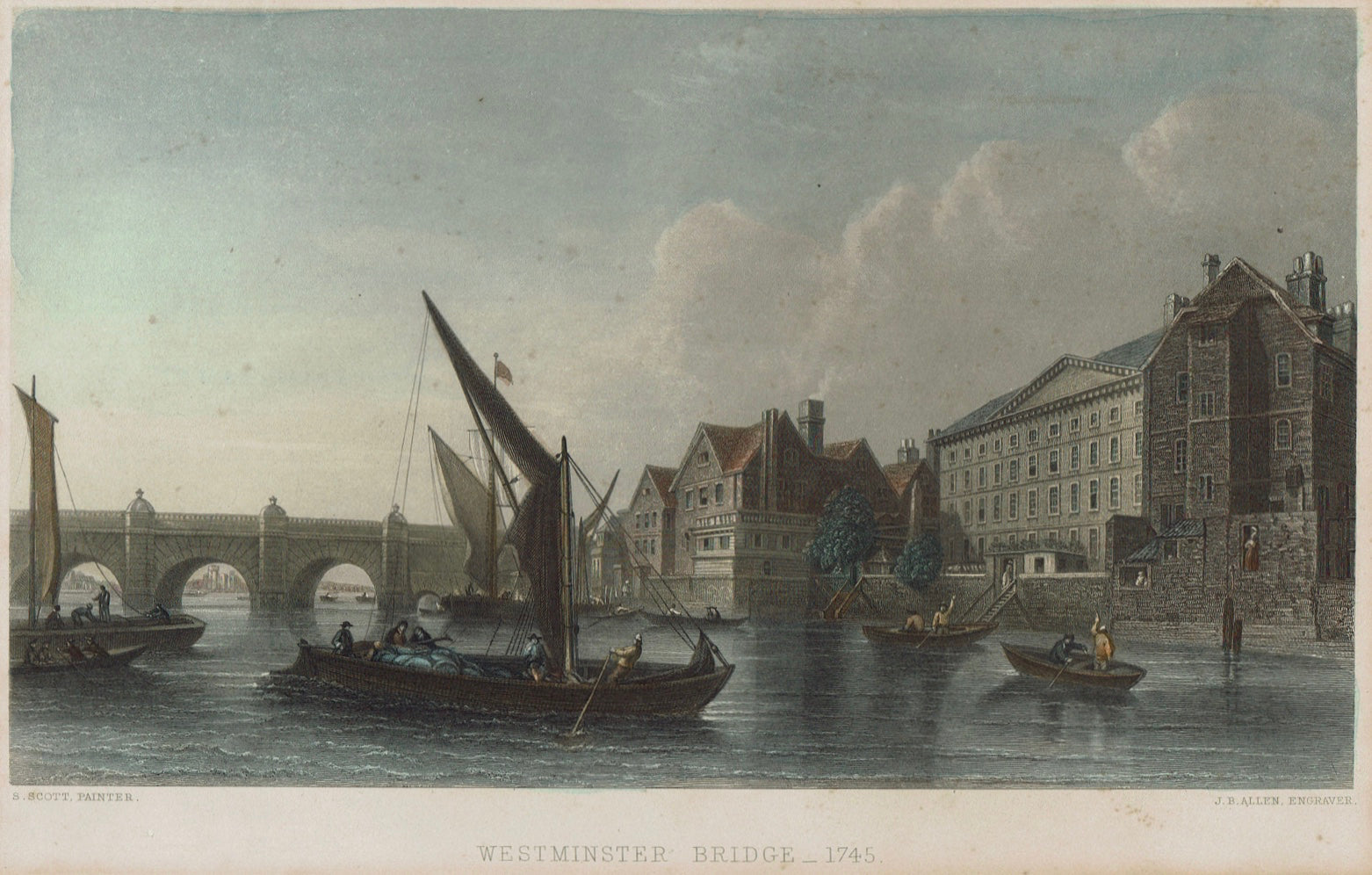 London - Westminster Bridge 1745