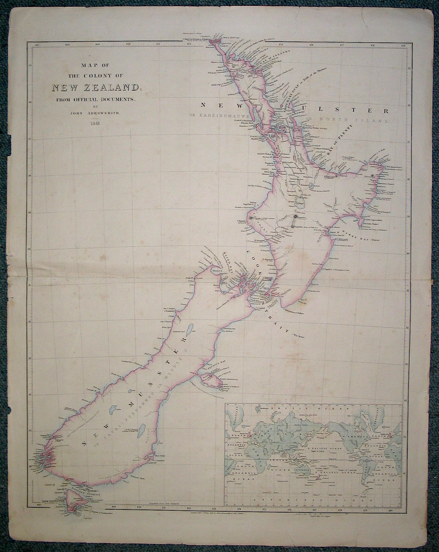 Map of the colony of New Zealand from official documents [folding map]
