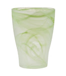 Glass Vase - Green Twirl 309