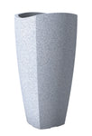 Wave Light Grey Fibre Pot