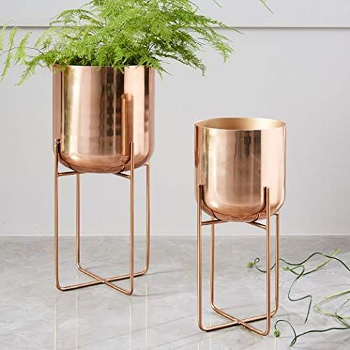 Golden metal pots with stand 06