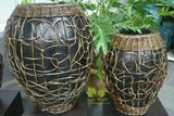 LBGP 227 Terracotta Pot W/Rattan Decor