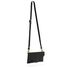 Black Envelope Purse with detachable strap
