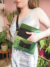 Mock Croc Bumbag with chunky detachable strap